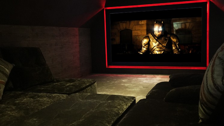 Alpine Lodge Cinema Room: Get Cosy