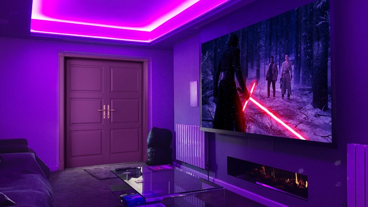 Surprising Cinema Room in Birmingham